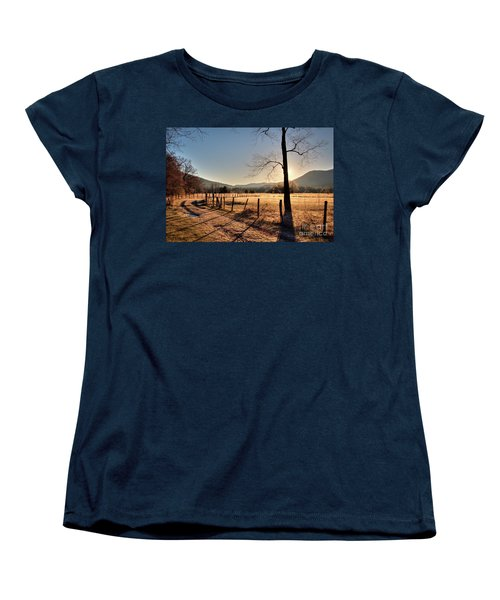 Women's T-Shirt (Standard Cut) featuring the photograph Cades Cove, Spring 2017,i by Douglas Stucky