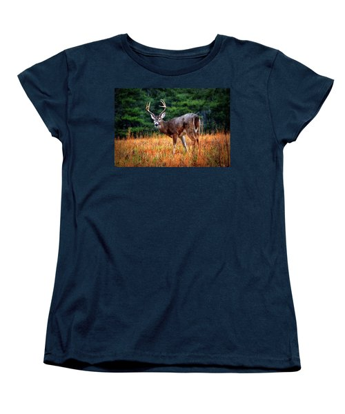 Cades Cove - The Buck Stopped Here 002 Women's T-Shirt (Standard Cut) by George Bostian