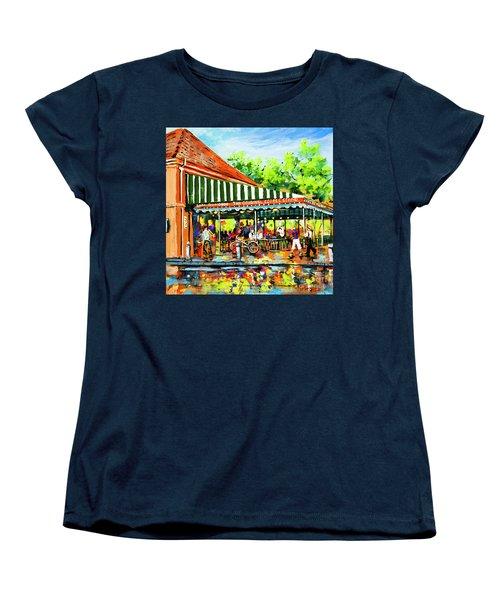 Cafe Du Monde Lights Women's T-Shirt (Standard Cut) by Dianne Parks