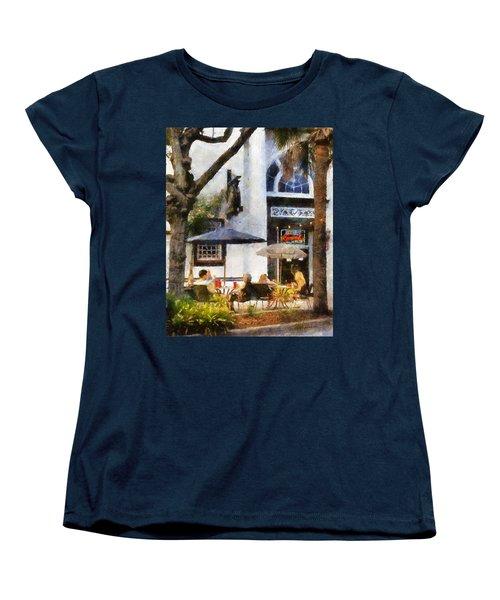 Cafe Women's T-Shirt (Standard Cut) by Francesa Miller