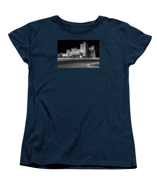 Cahir Castle At Night Women's T-Shirt (Standard Cut) by Martina Fagan