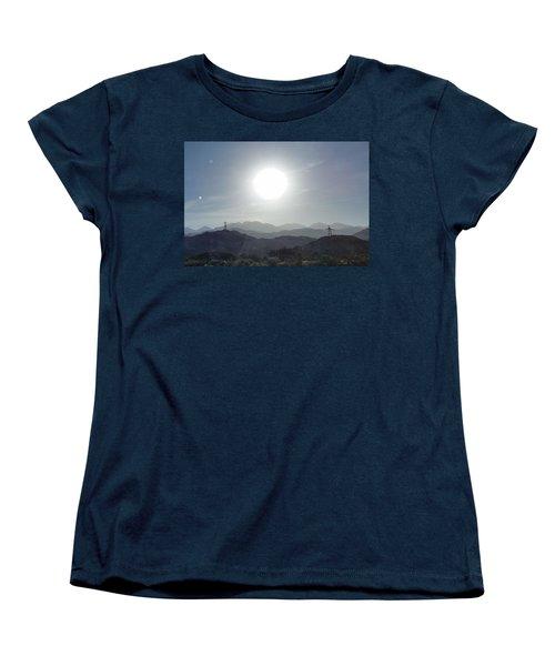 Cajon Pass Sunset Women's T-Shirt (Standard Cut) by Karen J Shine