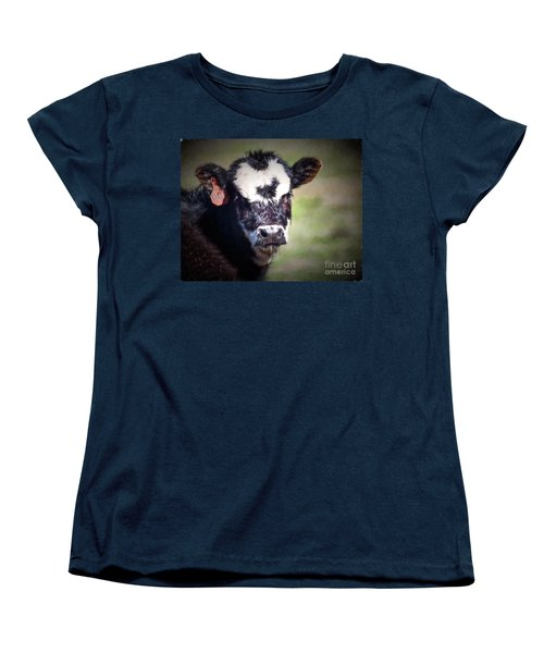 Women's T-Shirt (Standard Cut) featuring the photograph Calf Number 444 by Laurinda Bowling