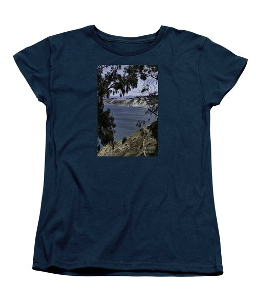 Women's T-Shirt (Standard Cut) featuring the photograph Cali Shore by Judy Wolinsky