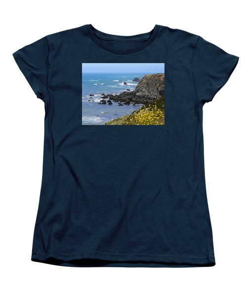 California Coast Women's T-Shirt (Standard Cut) by Laurel Powell