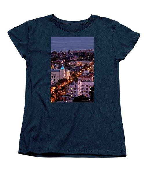 Women's T-Shirt (Standard Cut) featuring the photograph California Street At Ventura California by John A Rodriguez