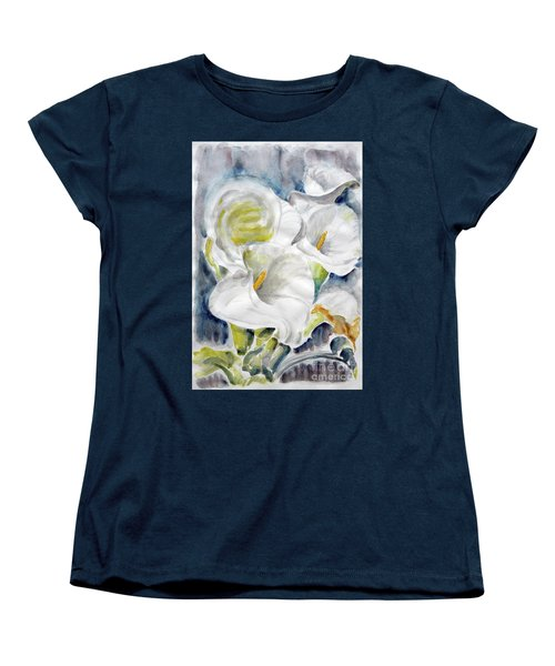 Women's T-Shirt (Standard Cut) featuring the painting Calla by Jasna Dragun