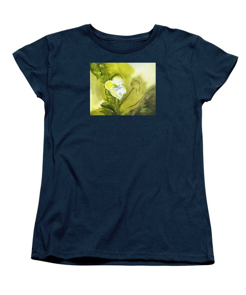 Calla Lily In Acrylic Women's T-Shirt (Standard Cut) by Frank Bright