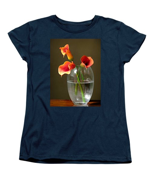 Calla Lily Stems Women's T-Shirt (Standard Cut) by Diana Angstadt