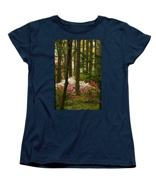 Callaway Gardens Spring Azaleas Women's T-Shirt (Standard Cut) by Kathy Clark