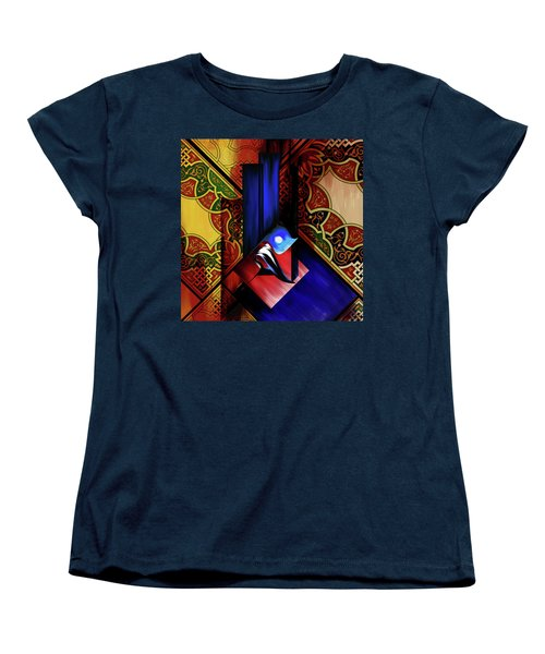 Women's T-Shirt (Standard Cut) featuring the painting Calligraphy 102 1 1 by Mawra Tahreem