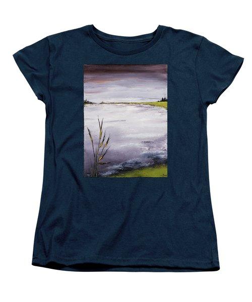 Calmer Water Women's T-Shirt (Standard Cut) by Carolyn Doe