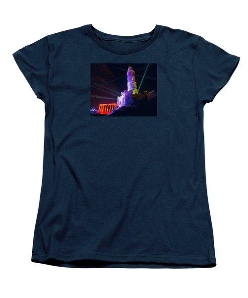 Calton Hill Lightshow Women's T-Shirt (Standard Cut) by Ray Devlin