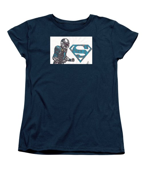 Cam Newton Superman Edition Women's T-Shirt (Standard Cut) by Jeremiah Colley
