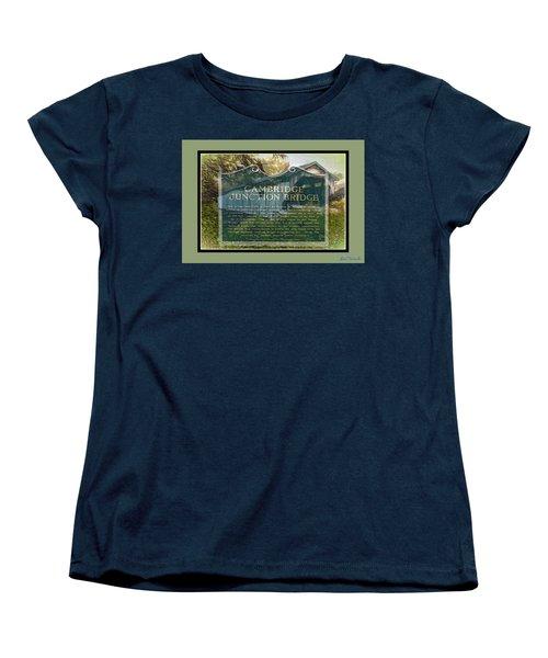 Cambridge Jct. Bridge History Women's T-Shirt (Standard Cut) by John Selmer Sr