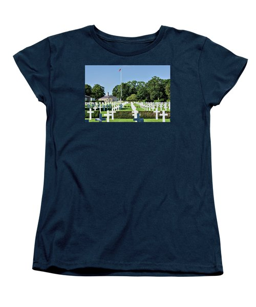 Cambridge England American Cemetery Women's T-Shirt (Standard Cut) by Alan Toepfer