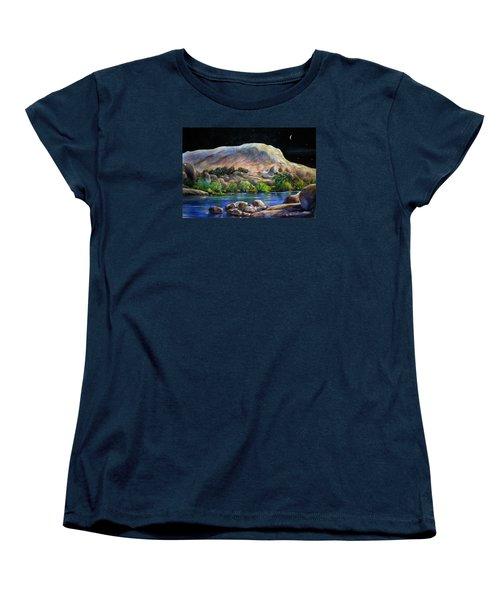 Camping In The Moonlight Women's T-Shirt (Standard Cut)