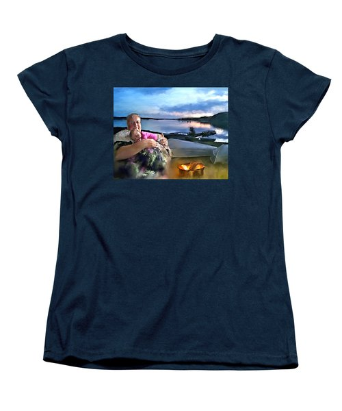 Camping With Grandpa Women's T-Shirt (Standard Cut)