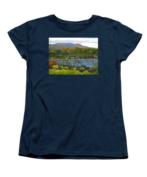 Campton Pond Campton New Hampshire Women's T-Shirt (Standard Cut) by Nancy Griswold