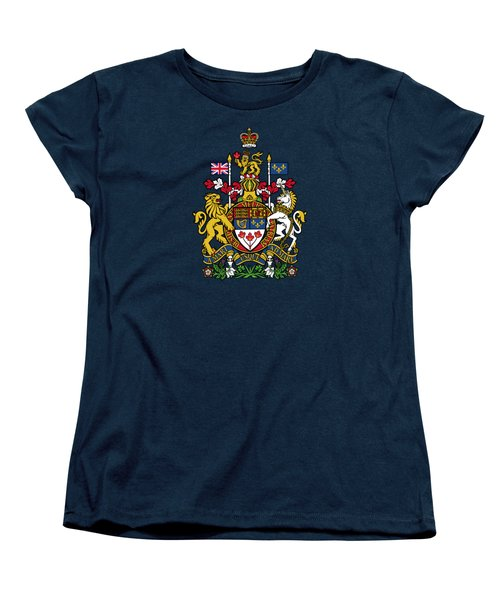 Women's T-Shirt (Standard Cut) featuring the drawing Canada Coat Of Arms by Movie Poster Prints