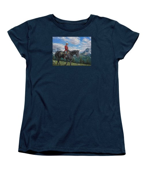 Women's T-Shirt (Standard Cut) featuring the painting Canadian Majesty by Kim Lockman