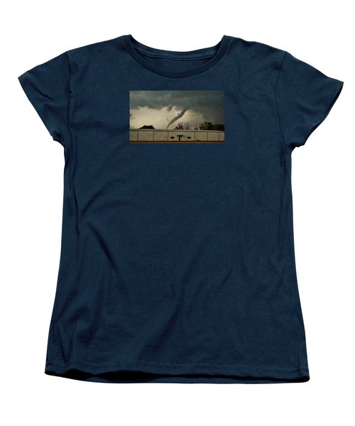 Canadian Tx Tornado Women's T-Shirt (Standard Cut) by Ed Sweeney