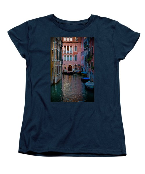 Canal At Dusk Women's T-Shirt (Standard Cut) by Harry Spitz