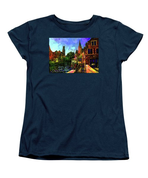 Canal In Bruges Women's T-Shirt (Standard Cut) by DC Langer
