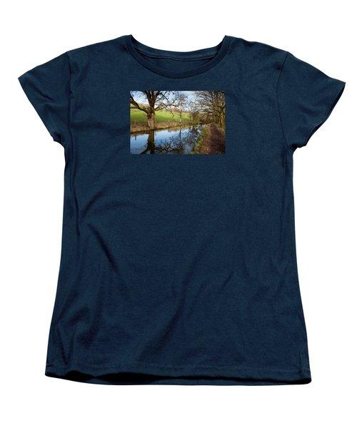 Canal Reflections Women's T-Shirt (Standard Cut) by Helen Northcott