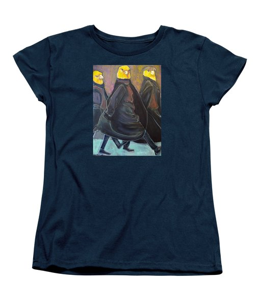 Women's T-Shirt (Standard Cut) featuring the painting Canaries On Parade by Irena Mohr