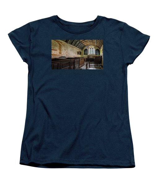 Women's T-Shirt (Standard Cut) featuring the photograph Candles In Old Church by Adrian Evans