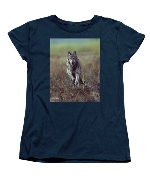 Canis Lupus Women's T-Shirt (Standard Cut) by Tim Fitzharris