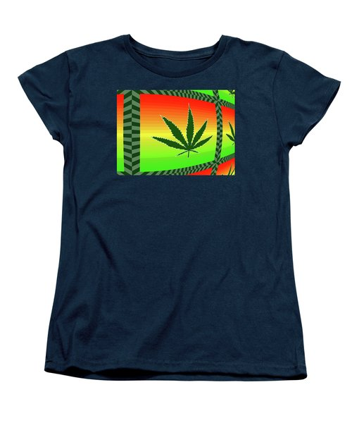 Women's T-Shirt (Standard Cut) featuring the mixed media Cannabis  by Dan Sproul