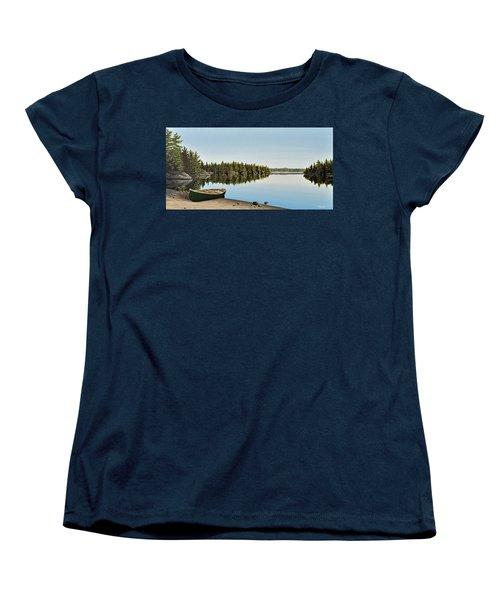 Canoe The Massassauga Women's T-Shirt (Standard Cut) by Kenneth M  Kirsch