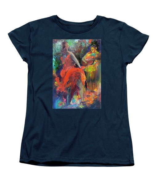Women's T-Shirt (Standard Cut) featuring the painting Cantina Serenade by Keith Thue