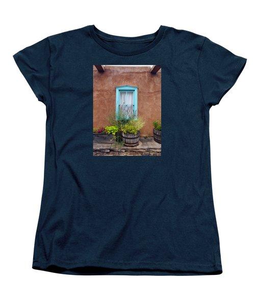 Women's T-Shirt (Standard Cut) featuring the photograph Canyon Road Blue Santa Fe by Kurt Van Wagner