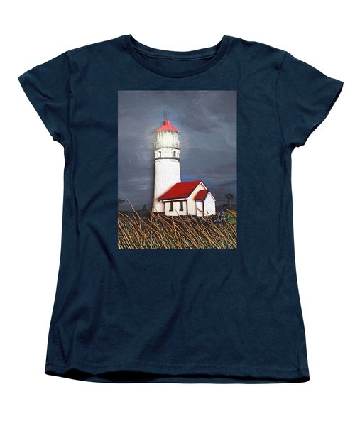 Women's T-Shirt (Standard Cut) featuring the relief Cape Blanco Glow by Wendy McKennon