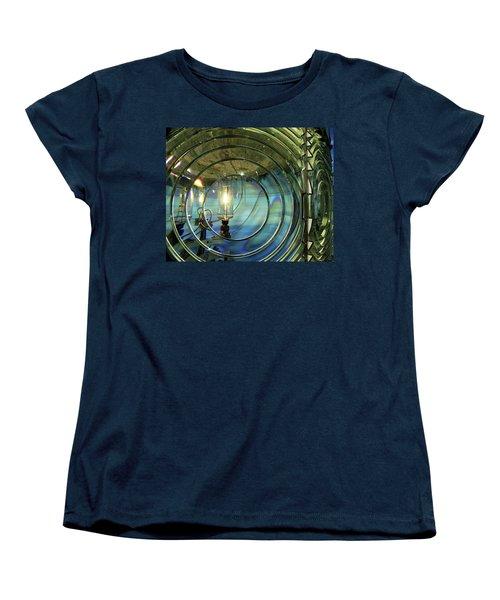 Cape Blanco Lighthouse Lens Women's T-Shirt (Standard Cut) by James Eddy