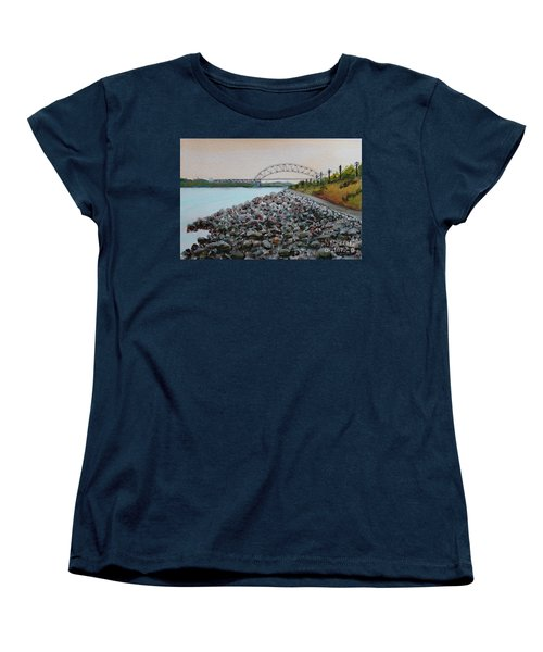 Cape Cod Canal To The Bourne Bridge Women's T-Shirt (Standard Cut) by Rita Brown