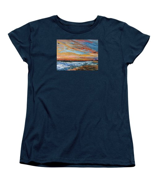 Cape Cod Sunrise Women's T-Shirt (Standard Cut) by Michael Helfen