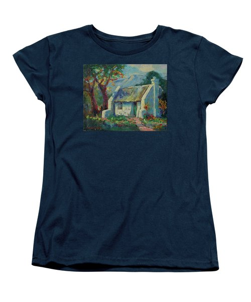 Cape Cottage With Mountains Art Bertram Poole Women's T-Shirt (Standard Cut) by Thomas Bertram POOLE