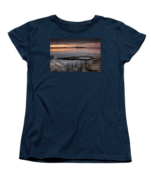Women's T-Shirt (Standard Cut) featuring the photograph Cape Fear Sunset Serenity by Phil Mancuso