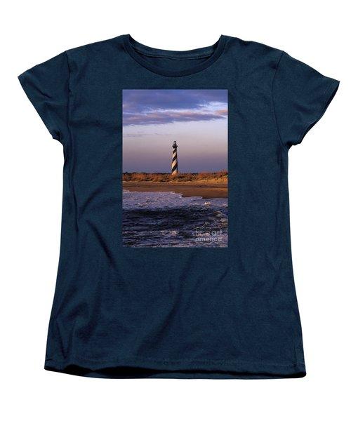 Cape Hatteras Lighthouse At Sunrise - Fs000606 Women's T-Shirt (Standard Cut) by Daniel Dempster
