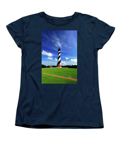 Women's T-Shirt (Standard Cut) featuring the photograph Cape Hatteras Lighthouse by Meta Gatschenberger