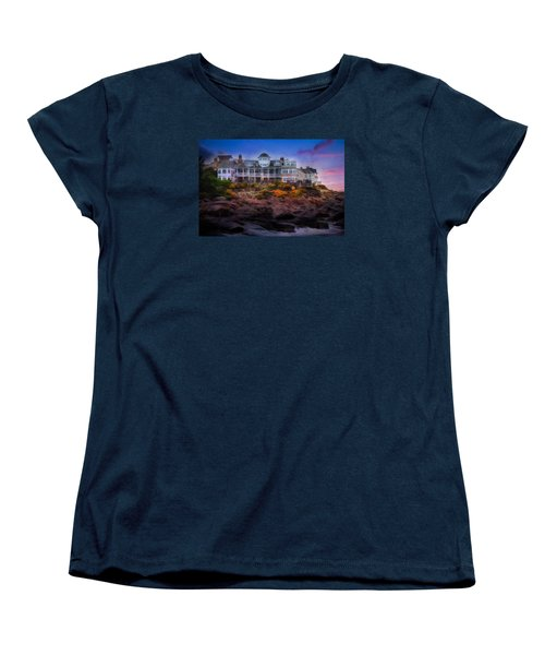 Women's T-Shirt (Standard Cut) featuring the photograph Cape Neddick Maine Scenic Vista by Shelley Neff