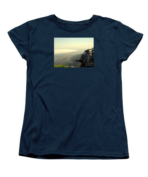 Cape Town View From Table Rock Women's T-Shirt (Standard Cut) by John Potts