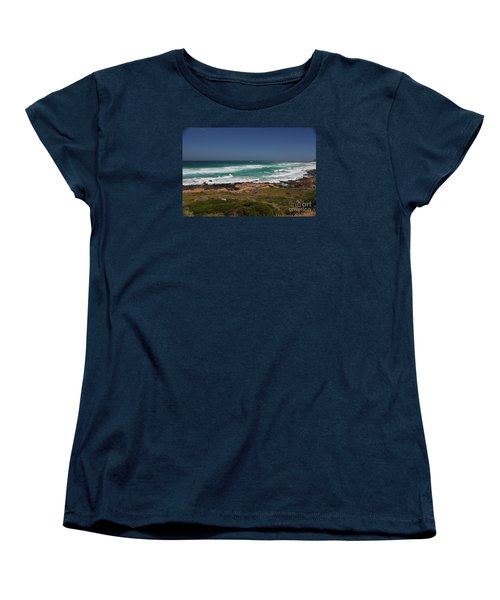 Capetown Peninsula Beach Women's T-Shirt (Standard Cut) by Bev Conover