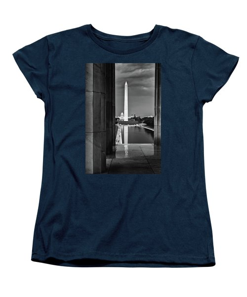 Capita And Washington Monument Women's T-Shirt (Standard Cut) by Paul Seymour