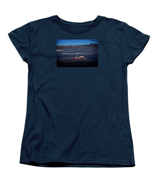 Women's T-Shirt (Standard Cut) featuring the photograph Capitol Butte In Sedona With Snow by Ron Chilston