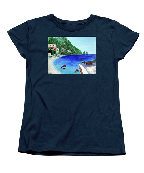 Women's T-Shirt (Standard Cut) featuring the painting  Capri by Larry Cirigliano